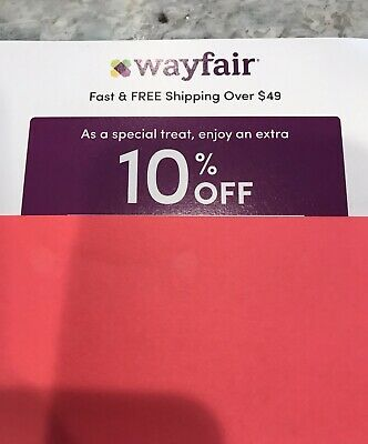 Wayfair 10% OFF COUPON on ENTIRE PURCHASE Exp 5/15/19 FIRST ORDER ONLY