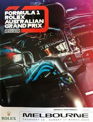 2019 Rolex Australian Formula 1 Grand Prix Official F1 Race Program Guide