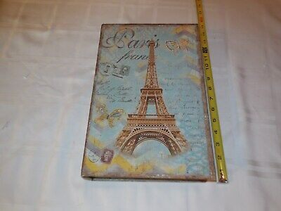 Large false book. Paris France. 13 by 10 inches and 2 1/2 inches deep.