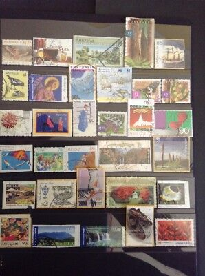 Over 30 All Different HV AUSTRALIAN stamps Used H1