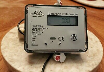 "Ultrasonic Water Meter 1/2"" with modbus"