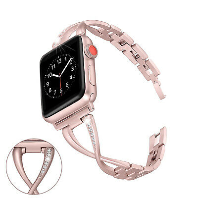 Stainless Steel Women band Strap for Apple Watch 38/42/40/44mm series 5 4 3 2 1