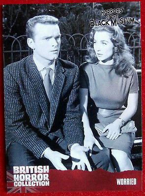 BRITISH HORROR COLLECTION - Horrors of the Black Museum - WORRIED - Card #35