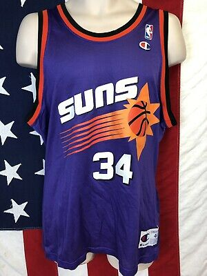 sneakers for cheap f519d 99dbf VINTAGE NBA CHAMPION Phoenix Suns CHARLES BARKLEY Throwback Jersey Purple  44 L