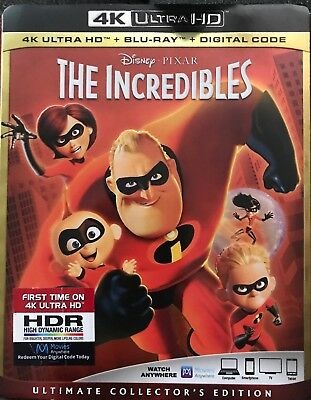 Disney Pixar The Incredibles 4K Ultra Hd(4K Ultra Hd+Blu-Ray+Digital Code)
