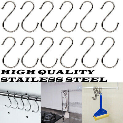 Heavy Duty Stainless Steel S Hooks for Bathroom Kitchen in Large / Small Size CN