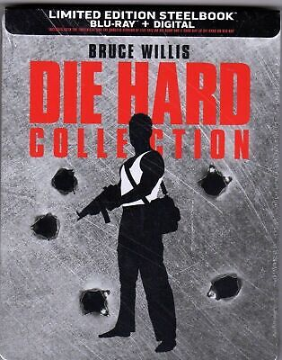 Die Hard Collection (Blu-ray Disc, 2018, SteelBook) 5 Movies NEW