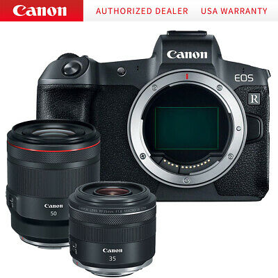 Canon EOS R 30.3MP Mirrorless Camera(Body Only) w/50mm f/1.2 and 35mm f/1.8 Lens