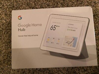 SEALED Google GA00515-US Home Hub with Google Assistant - Charcoal