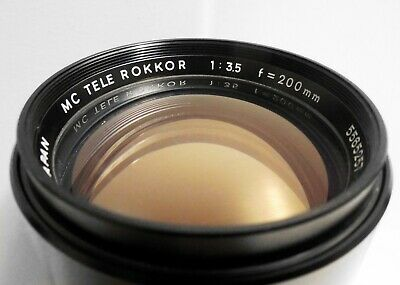 Minolta MC Tele Rokkor 200mm f/3.5 Minolta MD Mount ~ Excellent ~ FREE Shipping!