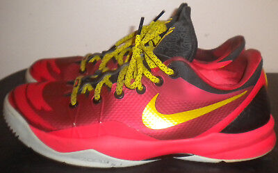 70e242cf7368 2013 Nike Zoom Kobe Venomenon 4 Gym Red Citron Crimson Men Size 12  635578-600