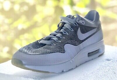 outlet store 1b109 b8169 NIKE AIR MAX 1 Ultra Flyknit Wolf Grey 9.5 Mens Running Shoes 843384-001 NEW