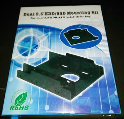 """SSD Notebook 2.5"""" HDD Hard drive to 3.5"""" Mounting Kit Adapter Bracket + Screws"""