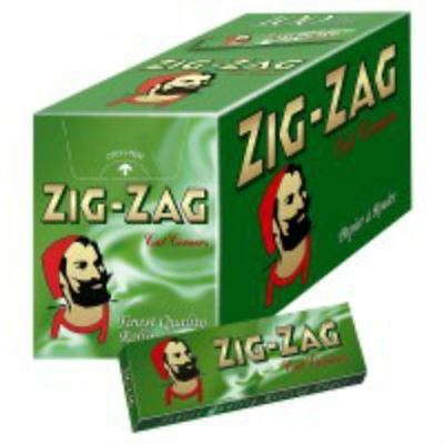 Zig Zag Rolling Papers Green (Full Box of 100 Booklets)