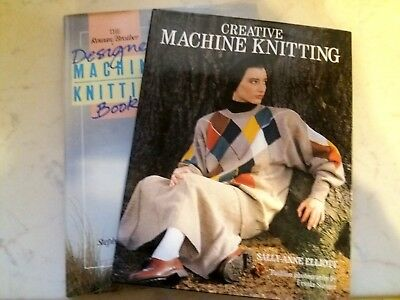 Bk31 Brother Knitting Machine Books Hardback Lot Of 2 Quality Pattern Manuals