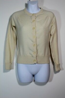 3e7436c1c8 Banana Republic Women Medium Merino Wool Tan Button Cardigan Sweater Long  Sleeve