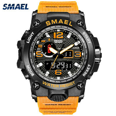 SMAEL Men Sport Watch Dual Display Digital LED Electronic Male Quartz Wristwatch