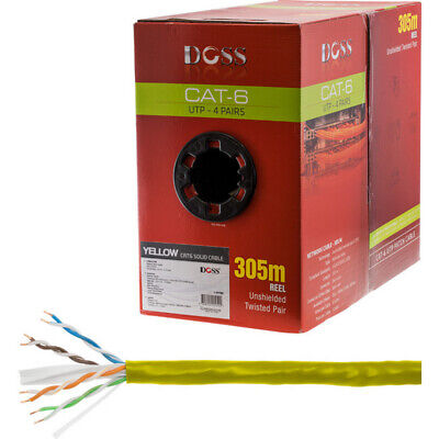 305M Cat6 Solid Cable Yellow Sold As 305M Roll Only C6RYLW