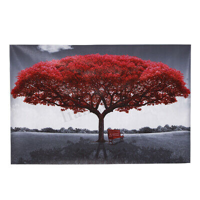 Modern Canvas Art Painting Large Red Tree Print Picture Home Wall Decor