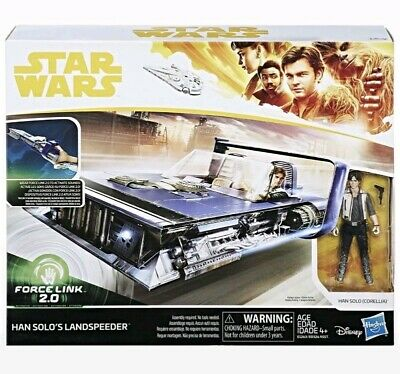 Star Wars Force Link 2.0 - Han Solo Land Speeder Toys Hasbro Action Figure New