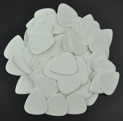 50pcs Heavy 1.5mm Guitar Picks Plectrums Celluloid Solid White F Electric Guitar