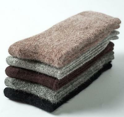 4 Pairs 100% Angora Pure Cashmere Wool Thick Mens Socks Warm Christmas Gift 7-11