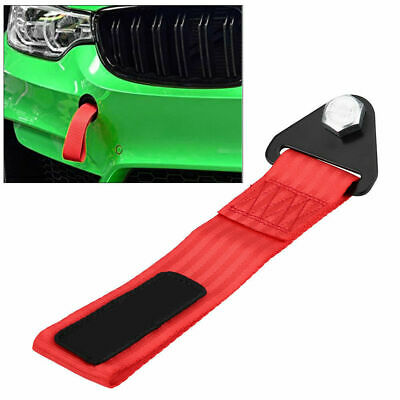 High Strength Racing Car Tow Towing Strap Hook Rope Front Rear Bumper Universal