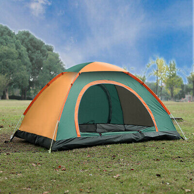 3-4 Man Persons Waterproof Camping Automatic Pop Up Tent Outdoor Hiking Fishing