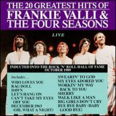The 20 Greatest Hits of Frankie Valli and The Four Seasons Live CD NEW