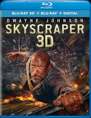 Skyscraper (2018 Dwayne Johnson) (2 Disc, 3D Blu-ray + Blu-ray) 3D BLU-RAY NEW