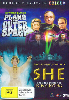 Plan 9 from Outer Space / She (1935) (2 Disc, Colour Version) DVD NEW