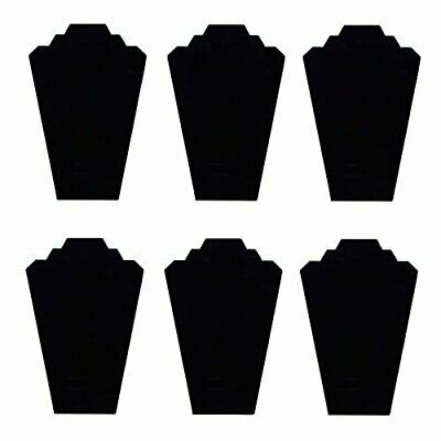 Black Velvet Necklace Jewelry Display Organizer Stand 6pcs/pack, 12.5inches
