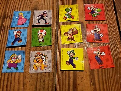 FULL 12 STICKER SET -- Super Mario Wonder Ball Coins Nintendo Bowser Yoshi Luigi
