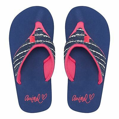 Animal Girls Swish Upper AOP Flip Flops | Patriot Blue