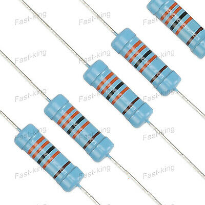 Assorted Resistors - 3Watt 1% 0.1-1MΩ Ohm Various Value Metal Film Resistors