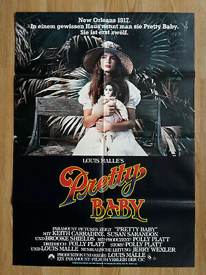 PRETTY BABY  rare German 1-sheet poster 1978 LOUIS MALLE Brooke Shields SARANDON