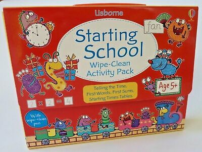 Usborne Wipe & Clean Starting School Activity Pack Ages 3+ Birthday Gift New