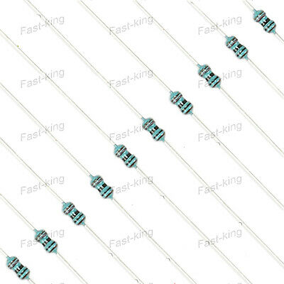5.1-1000Kohm Various Value Assorted Resistors - 1/6W Watt 0.25 Metal Film 1%