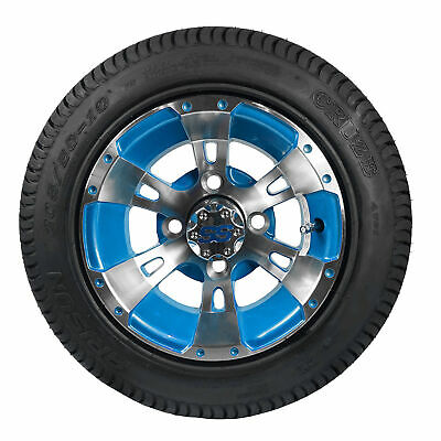 """10"""" Blue Python Wheels with 205/50-10 LoPro Tires (Set of 4)"""