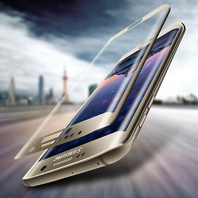 For Samsung Galaxy S7 Edge 100% Genuine Tempered Glass Screen Protector - Gold