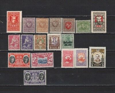 Lithuania  - Lot Of Early Unused H /OG Stamps (LITH1)