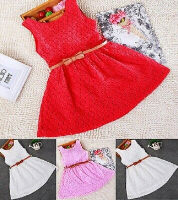 Lace Hollow Out Cool Princess Dresses For Girls Sleeveless Summer Kids Dress
