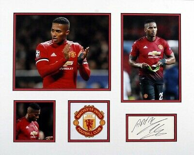 Antonio VALENCIA Signed & Mounted 20x16 Display AFTAL COA Manchester United