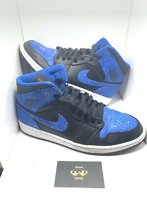 79f527c70fc819 MEN S SIZE 11 Air Jordan 1 Retro MID Royal Paint Splatter OG 554724 ...