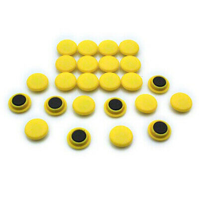 Small Planning & Notice Board Magnets - Yellow (20 Packs of 24)