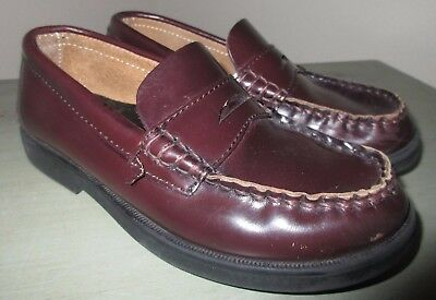 1dd928c7b4b SPERRY TOP-SIDER 12.5 Youth Boys COLTON Brown Leather Penny Loafer Dress  Shoes
