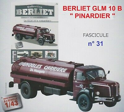 n° 31 Camion BERLIET GLM 10 B Vignobles CARRIERE Mauguio 34 FASCICULE BOOKLET
