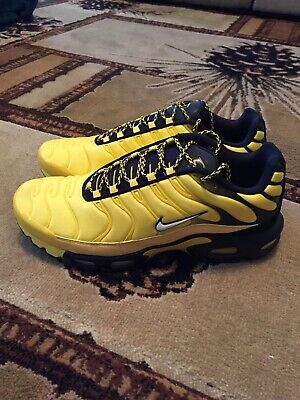 online store 12e7a d96a4 Nike Air Max Plus Frequency Pack Mens AV7940-700 Yellow Black Shoes Size 13