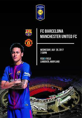 Programme Barcelona v Manchester United 2017 Champions Cup in USA. Unofficial