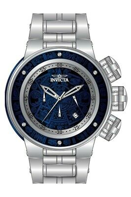 Invicta 28248 Subaqua Men's 52mm Chronograph Stainless Steel Blue Wood Dia Watch